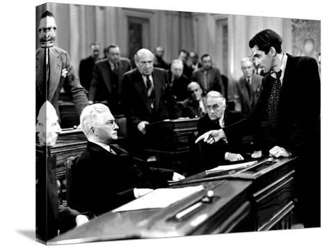 Mr. Smith Goes To Washington, Claude Rains, James Stewart, 1939, Senate Debate--Stretched Canvas Print