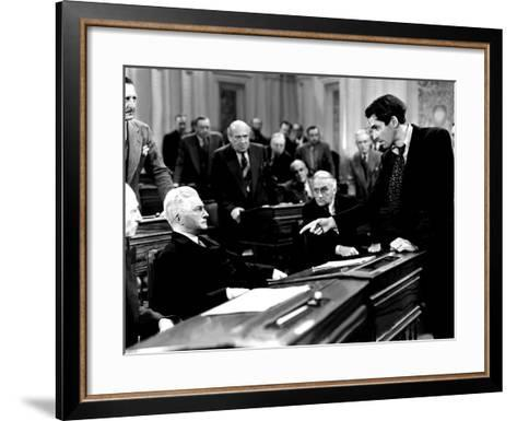 Mr. Smith Goes To Washington, Claude Rains, James Stewart, 1939, Senate Debate--Framed Art Print