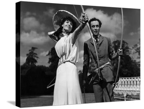 Kind Hearts And Coronets, Valerie Hobson, Dennis Price, 1949--Stretched Canvas Print