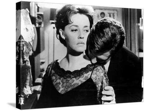 La Notte, Jeanne Moreau, Marcello Mastroianni, 1961--Stretched Canvas Print
