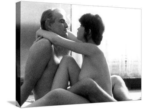 Last Tango In Paris, Marlon Brando, Maria Schneider, 1972--Stretched Canvas Print