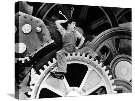 Modern Times, Charlie Chaplin, 1936--Stretched Canvas Print