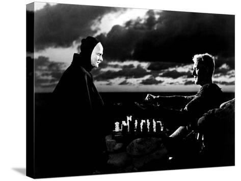 The Seventh Seal, Bengt Ekerot, Max Von Sydow, 1957--Stretched Canvas Print