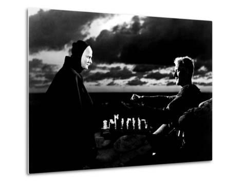 The Seventh Seal, Bengt Ekerot, Max Von Sydow, 1957--Metal Print