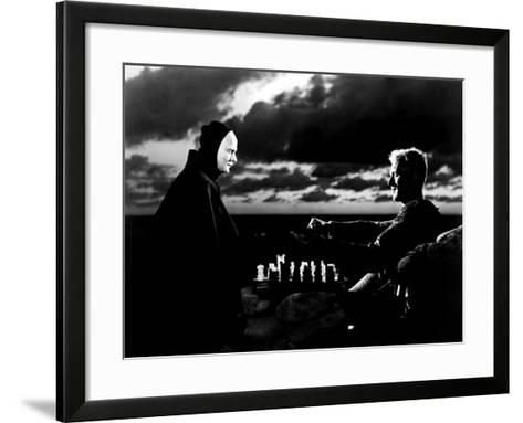 The Seventh Seal, Bengt Ekerot, Max Von Sydow, 1957--Framed Art Print