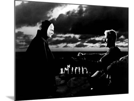 The Seventh Seal, Bengt Ekerot, Max Von Sydow, 1957--Mounted Photo