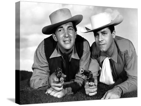 Pardners, Dean Martin And Jerry Lewis, 1956--Stretched Canvas Print