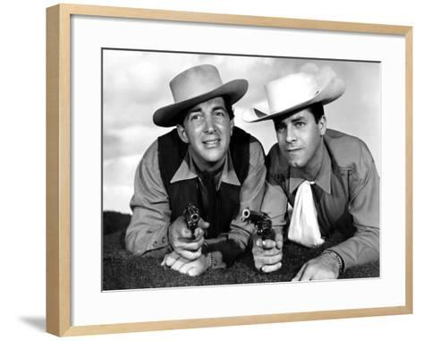 Pardners, Dean Martin And Jerry Lewis, 1956--Framed Art Print
