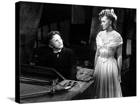 Phantom Of The Opera, Claude Rains, Susannah Foster, 1943--Stretched Canvas Print