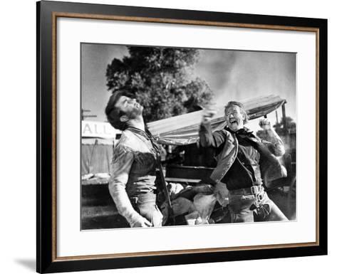 Red River, Montgomery Clift, John Wayne, 1948--Framed Art Print