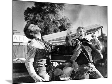 Red River, Montgomery Clift, John Wayne, 1948--Mounted Photo