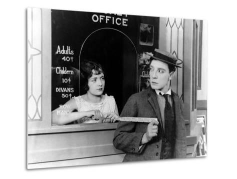 Sherlock Jr., Buster Keaton, 1924--Metal Print