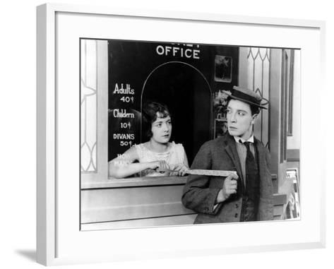 Sherlock Jr., Buster Keaton, 1924--Framed Art Print