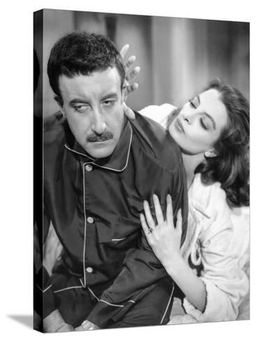 The Pink Panther, Peter Sellers, Capucine, 1963--Stretched Canvas Print