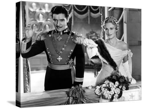 The Prisoner Of Zenda, Ronald Colman, Madeleine Carroll, 1937--Stretched Canvas Print