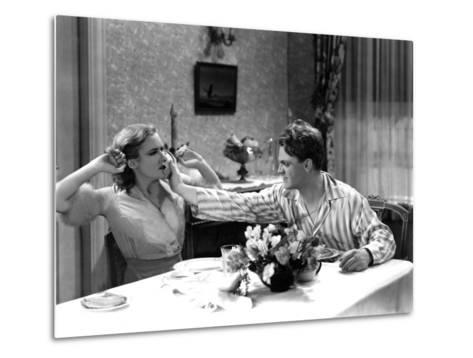 The Public Enemy, Mae Clarke, James Cagney, 1931, Domestic Fight With Grapefruit--Metal Print