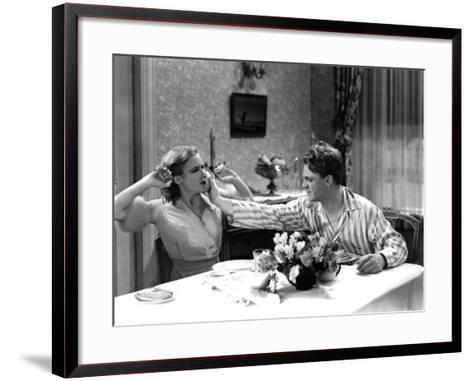 The Public Enemy, Mae Clarke, James Cagney, 1931, Domestic Fight With Grapefruit--Framed Art Print