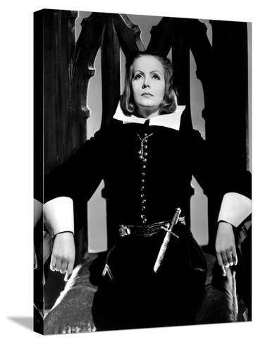 Queen Christina, Greta Garbo, Portrait By Clarence Sinclair Bull, 1933--Stretched Canvas Print