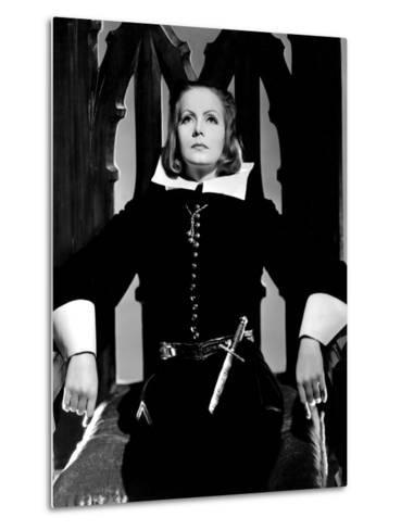 Queen Christina, Greta Garbo, Portrait By Clarence Sinclair Bull, 1933--Metal Print
