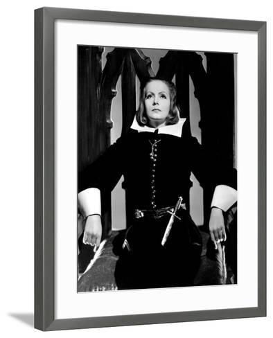 Queen Christina, Greta Garbo, Portrait By Clarence Sinclair Bull, 1933--Framed Art Print