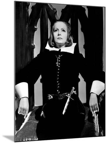 Queen Christina, Greta Garbo, Portrait By Clarence Sinclair Bull, 1933--Mounted Photo