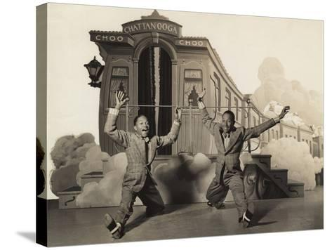 Sun Valley Serenade, Nicholas Brothers, 1941, Doing A Dancing Split--Stretched Canvas Print