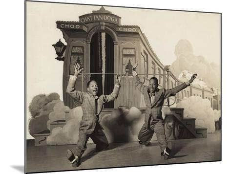 Sun Valley Serenade, Nicholas Brothers, 1941, Doing A Dancing Split--Mounted Photo
