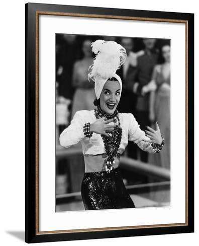 That Night In Rio, Carmen Miranda, 1941--Framed Art Print