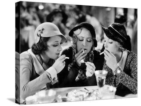 Three On A Match, Ann Dvorak, Joan Blondell, Bette Davis, 1932--Stretched Canvas Print