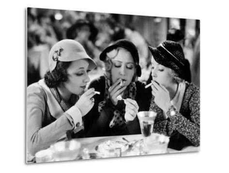 Three On A Match, Ann Dvorak, Joan Blondell, Bette Davis, 1932--Metal Print