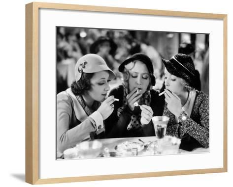 Three On A Match, Ann Dvorak, Joan Blondell, Bette Davis, 1932--Framed Art Print