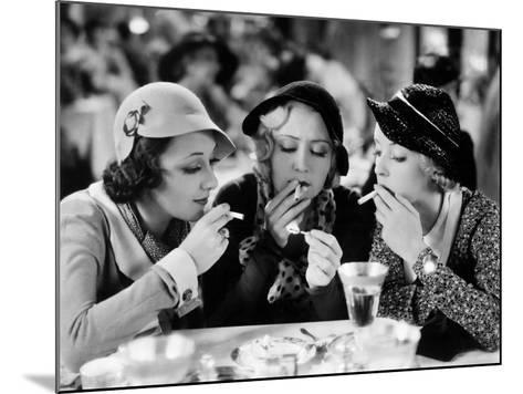 Three On A Match, Ann Dvorak, Joan Blondell, Bette Davis, 1932--Mounted Photo