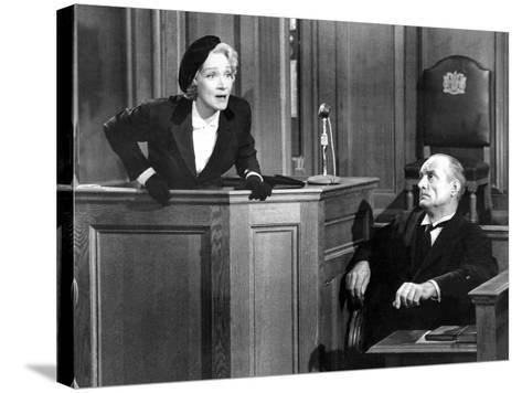 Witness For The Prosecution, Marlene Dietrich, 1957--Stretched Canvas Print