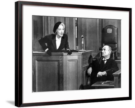 Witness For The Prosecution, Marlene Dietrich, 1957--Framed Art Print