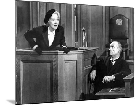 Witness For The Prosecution, Marlene Dietrich, 1957--Mounted Photo