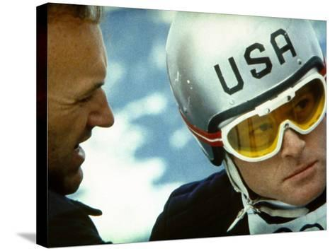 Downhill Racer, Gene Hackman, Robert Redford, 1969--Stretched Canvas Print
