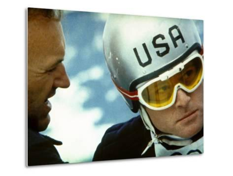 Downhill Racer, Gene Hackman, Robert Redford, 1969--Metal Print
