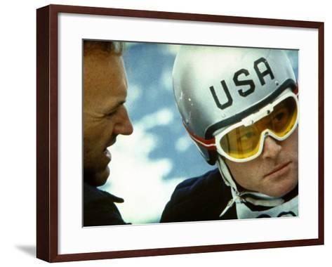 Downhill Racer, Gene Hackman, Robert Redford, 1969--Framed Art Print