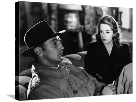 Out Of The Past, Robert Mitchum, Jane Greer, 1947--Stretched Canvas Print