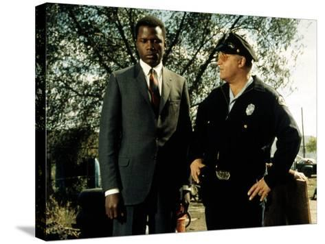 In The Heat Of The Night, Sidney Poitier, Rod Steiger, 1967--Stretched Canvas Print