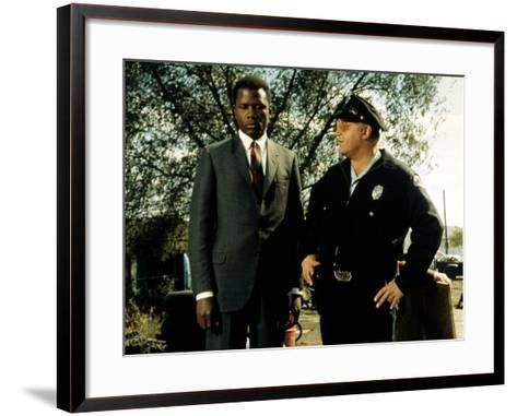 In The Heat Of The Night, Sidney Poitier, Rod Steiger, 1967--Framed Art Print