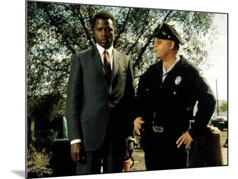 In The Heat Of The Night, Sidney Poitier, Rod Steiger, 1967--Mounted Photo