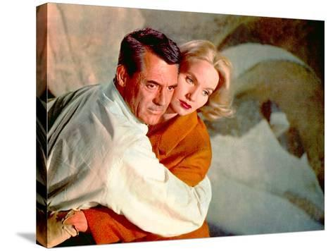 North By Northwest, Cary Grant, Eva Marie Saint, 1959, Clinging--Stretched Canvas Print