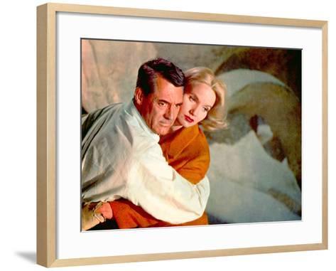 North By Northwest, Cary Grant, Eva Marie Saint, 1959, Clinging--Framed Art Print