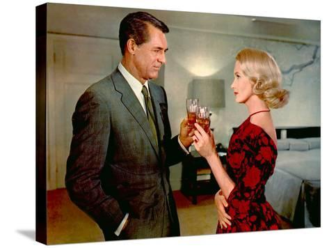 North By Northwest, Cary Grant, Eva Marie Saint, 1959--Stretched Canvas Print