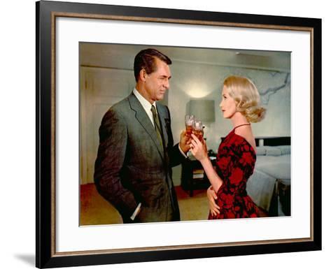 North By Northwest, Cary Grant, Eva Marie Saint, 1959--Framed Art Print