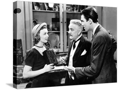 The Shop Around The Corner, Margaret Sullavan, Frank Morgan, James Stewart, 1940--Stretched Canvas Print