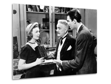 The Shop Around The Corner, Margaret Sullavan, Frank Morgan, James Stewart, 1940--Metal Print