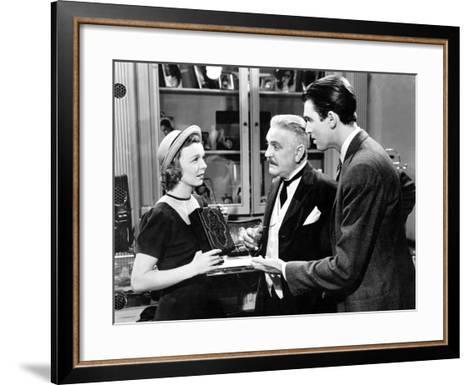 The Shop Around The Corner, Margaret Sullavan, Frank Morgan, James Stewart, 1940--Framed Art Print