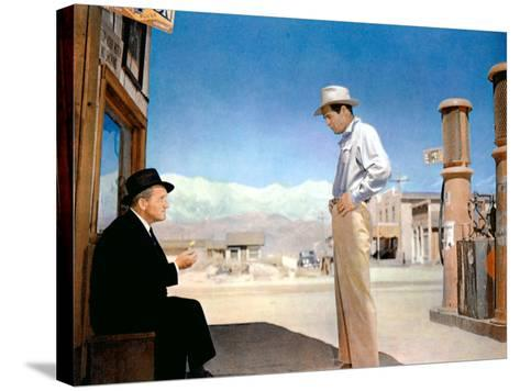 Bad Day At Black Rock, Spencer Tracy, Robert Ryan, 1955--Stretched Canvas Print